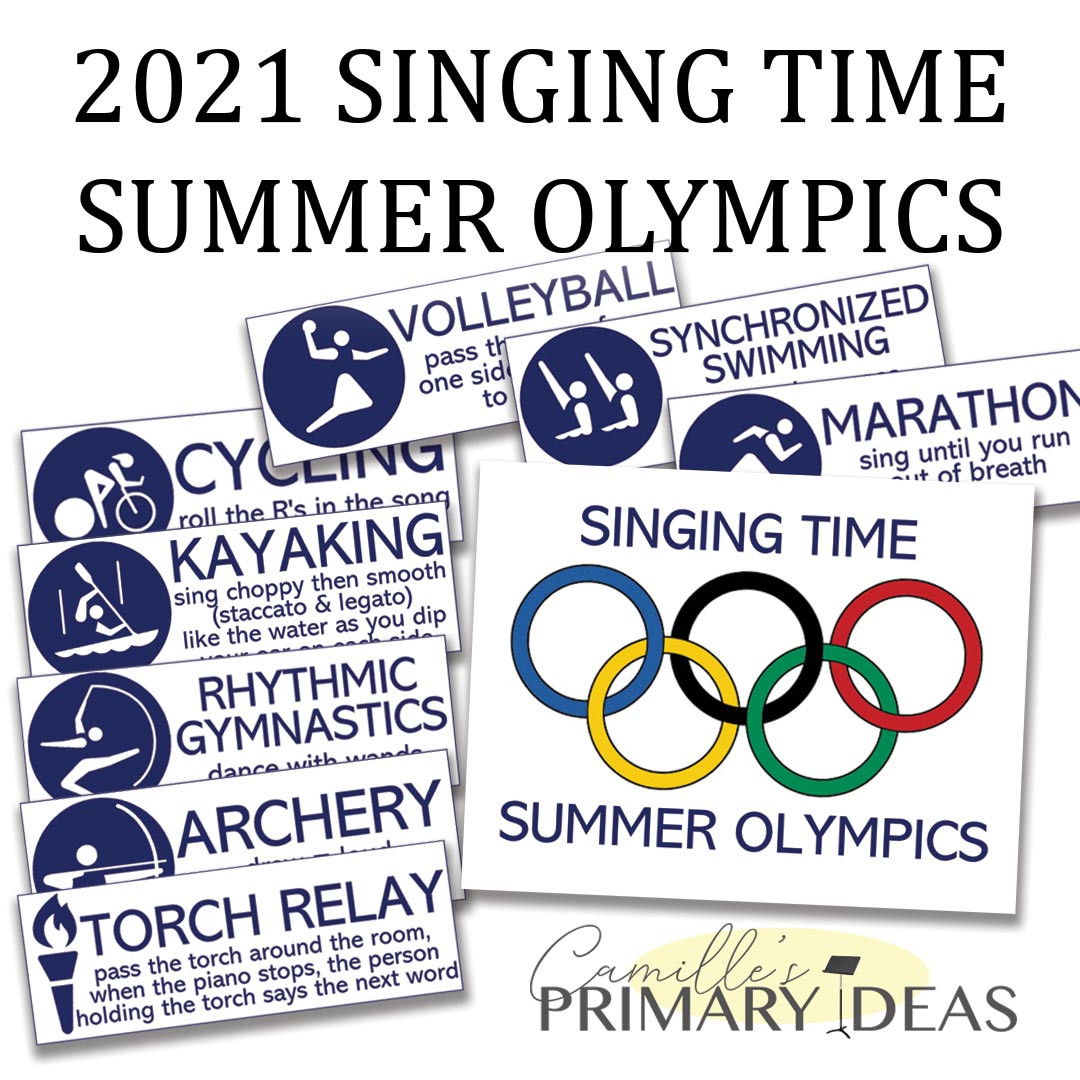 Camille's Primary Ideas: 2021 Singing Time Summer Olympics Review Activity