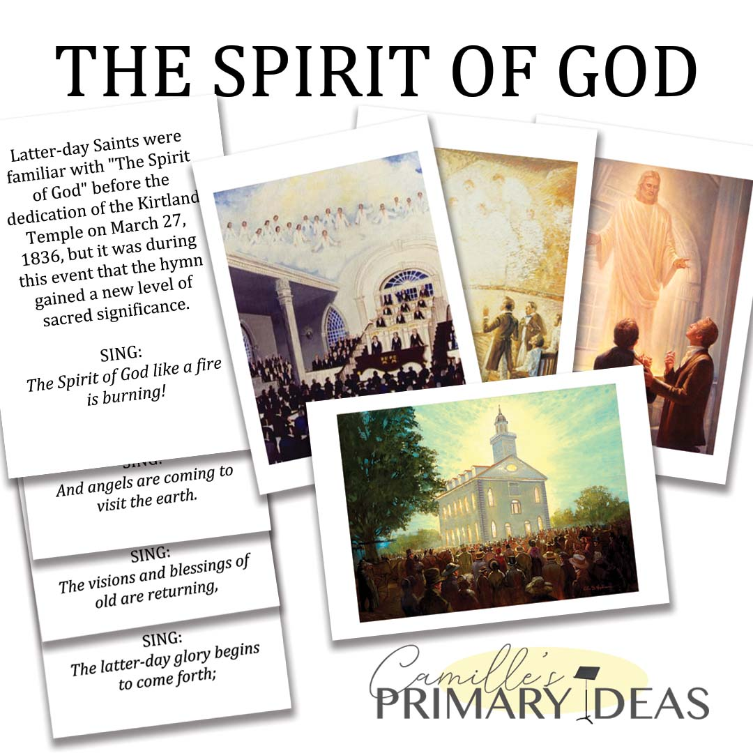 Camille's Primary Ideas: The Spirit of God singing time lesson plan idea