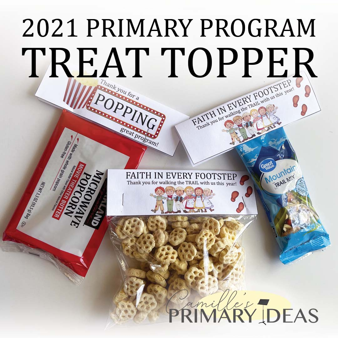2021 Primary Program Treat Topper Singing Time Ideas