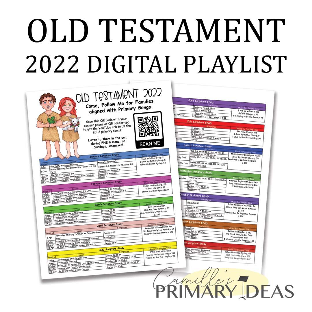 Camille's Primary Ideas: Old Testament 2022 Digital Playlist